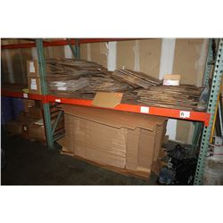 Large Lot of Unassembled Cardboard Boxes & Cardboard Pallet Trays