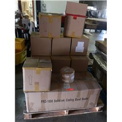 "FRD-1000 Solid Ink Coding Band Sealer & Boxes of 5"" Clear Film"