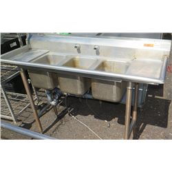 Advance Tabco 3-Basin SInk w/ Drainboards