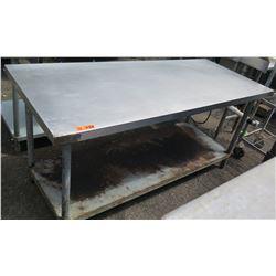 Stainless Steel Work Table w/ Undershelf