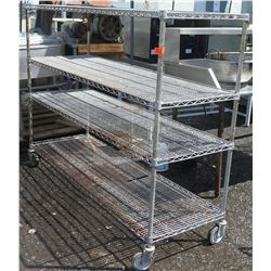 Stainless Steel Wire Shelving Unit  w/ Wheels