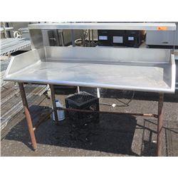 Stainless Steel Work Table w/ Backsplash & Sidesplash