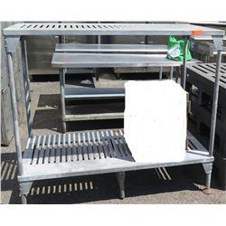 Grey Plastic Shelving Unit