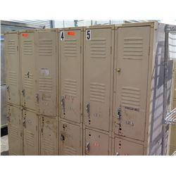 Tan Metal Lockers, 6 Compartments