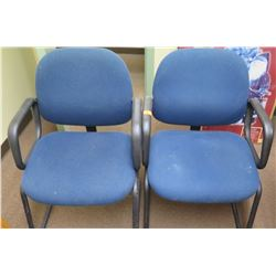 Qty 2 Blue Office Reception Chairs