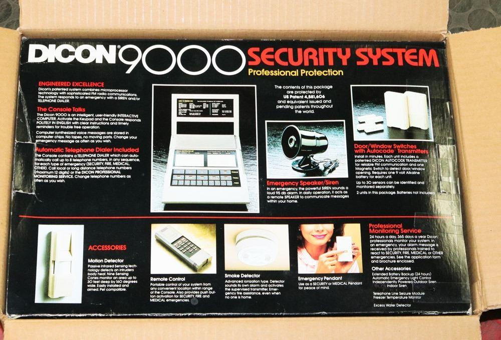 RADIO SHACK DICON 9000 SECURITY SYSTEM, REMOTE