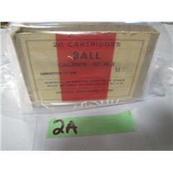 lot 5 boxes miscellaneous brass marked caliber 30M2
