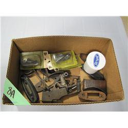 box of miscellaneous gun parts