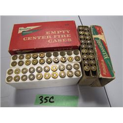 lot of 250 Savage ammo and brass