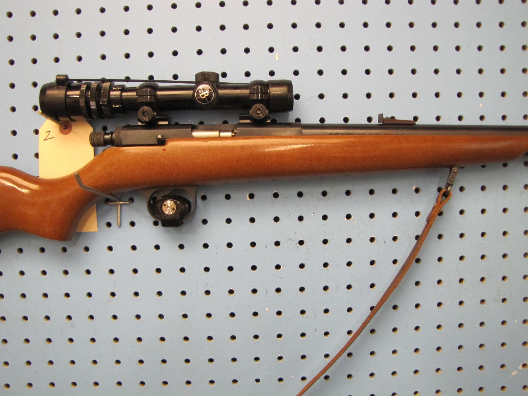 Z    Black Knight 50 cal black powder muzzleloader Bushnell scope chief 1 5  x 4 5 scope