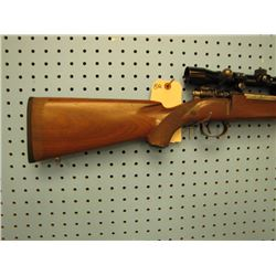 BQ... Swedish Mauser bolt action 7 x 57 internal clip Bushnell sportview scope stock has crack
