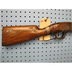 BU... Savage Model 99 lever action 22 high power take down stock cracked and repaired needs more rep