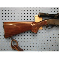 BX... Remington Gamemaster model 760 pump-action 6 mm rem clip Kurt Muller 4 x 32 scope