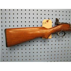 CR... Savage Model 3B bolt action 22 single shot with peep sights front sight glued on