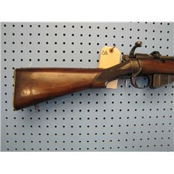 DQ... Lee-metford bolt action 38 - 55 clip rebarreled stock not exact fit