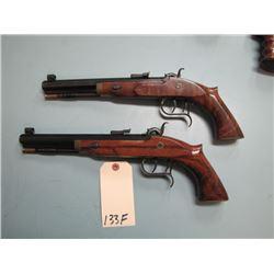 """RESTRICTED:  TC Patriot Matched Set of Black Powder Pistols .45 Cal 9"""" Octagon Barrels Double set tr"""
