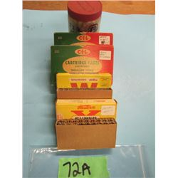 lot with approximately 120 rounds 222 reloads and some Factory