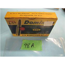 collector box of 270 Winchester ammunition CIL dominion
