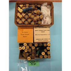 lot of collector 20 gauge paper shotgun hulls