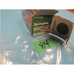 Brick of Remington 22 ammunition 9 boxes yellow jacket one box hi velocity