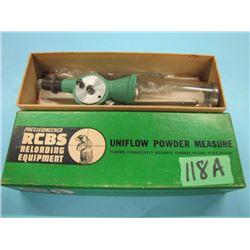 Uniflow powder measure