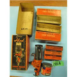 Lot with ideal powder measure, bullet lubricant ETC