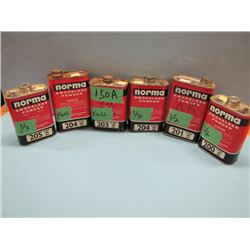 NO SHIPPINGlot of six cans various quantities powder