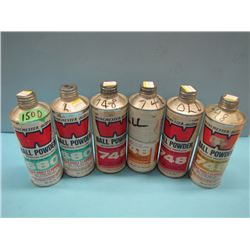 NO SHIPPING lot of six cans powder