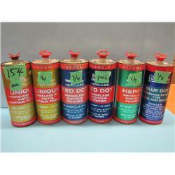 no shipping. lot of six cans shotgun and Pistol powder