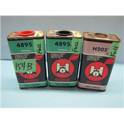 no shipping. Lot of 3 cans rifle powder