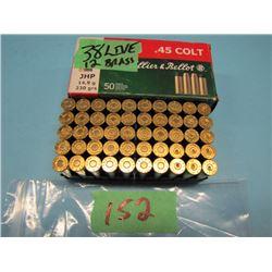 lot of 45 Colt ammo 38 live 12 brass