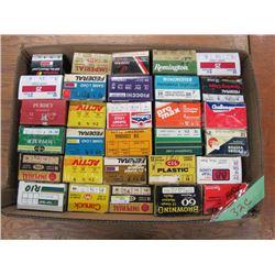 lot of collector  shotgun shell boxes