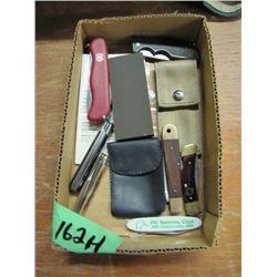 lot of assorted pocket knives