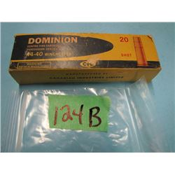 Dominion collector box with 20 rounds 44 - 40 shot ammunition