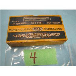 collector box 20 roundsDominion 32 Remington ammunition