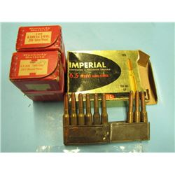 Imperial 6.5 mm ammunition 9 rounds and approximately one and a half boxes 6.5 mm bullets