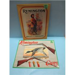 lot of two Remington signs