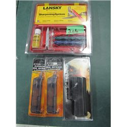 lot with Lansky sharpening system Airsoft BB speed loaders side break Scabbard