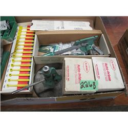 box with powder measures Auto primers RCBS presses Etc