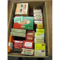 box with approximately 1600 primers and bullets