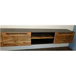 "Floating Wall Mount Counter/Cabinet Section 6'8 1/2 Overall L, 16.5 Depth, 14"" H"