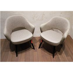 "Pair of Knoll Saarinen Executive Arm Chairs, Back Ht 31.5"", $1500 Retail Each"