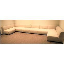 "8-Piece Modular Sofa Ensemble (each: 39"" depth, 39"" width, 32"" ht)"