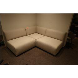 "3-Piece Modular Sofa Ensemble (each: 39"" depth, 39"" width, 32"" ht)"