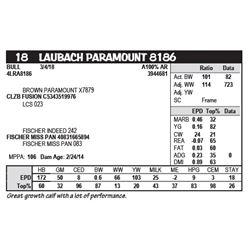 LAUBACH PARAMOUNT 8186