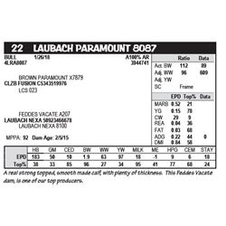 LAUBACH PARAMOUNT 8087