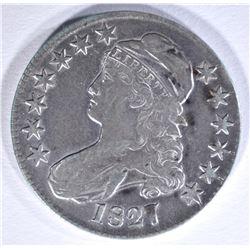 1827 BUST HALF DOLLAR, O-114 XF
