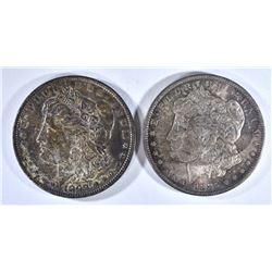 1885-O & 1898 MORGAN DOLLARS  CH BU