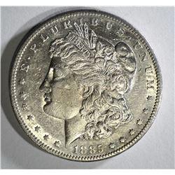 1885-S MORGAN DOLLAR AU+