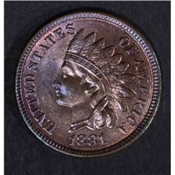 1881 INDIAN HEAD CENT  GEM BU RED